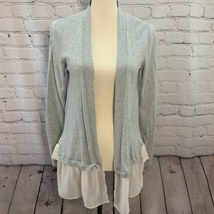 LC Lauren Conrad | cardigan with ruffle & bows